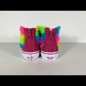 Vans Shoes - Vans Sk8-Hi Zip Rainbow Fur Carmine Sneakers
